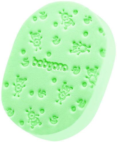 Delikatna gąbka dla niemowląt zielona BabyOno