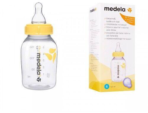 Butelka ze smoczkiem Medela 150 ml lub 250 ml do odciągania, przechowywania, zamrażania i bezpośredniego podawania mleka