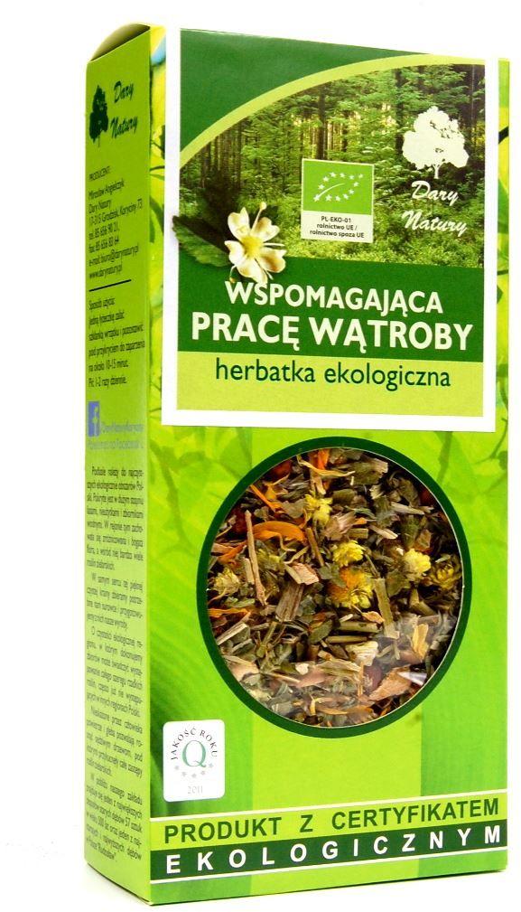 Herbatka wspomagająca pracę wątroby bio 50 g - dary natury