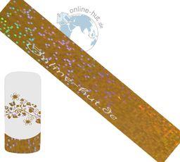 Folia transferowa złoty brokatowy hologram 3
