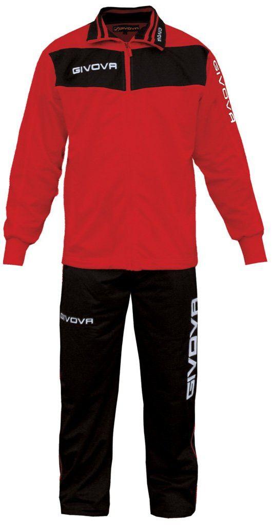 Givova, garnitur Vela, czerwony/czarny, S