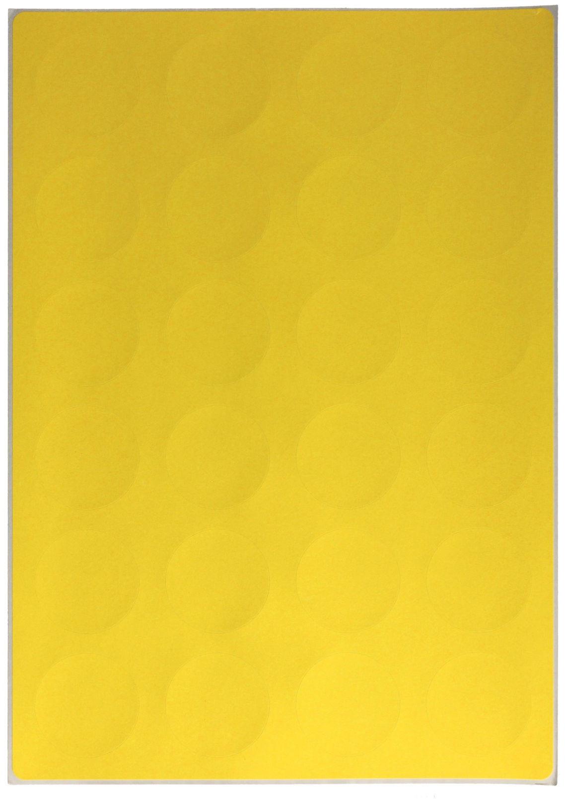 Etykiety uniwersalne kółka fi4cm żółte Emerson (25)