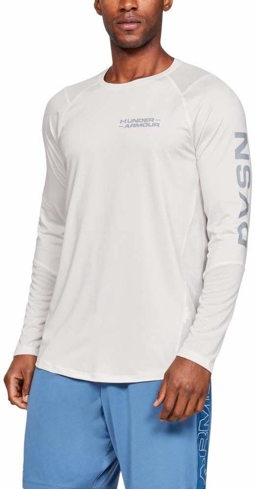 Under Armour Mk1 Ls Graphic koszulka z długim rękawem Onyx White / / Mod Gray (112) XL