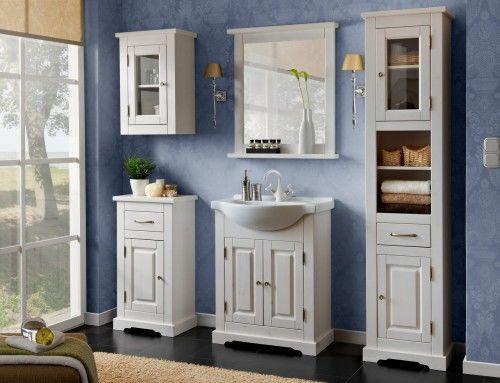 Meble łazienkowe ROMANTIC-szafki, lustro, umywalka 65 cm