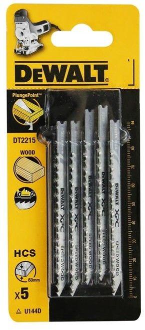 brzeszczoty do wyrzynarek 94mm do szybkiego cięcia drewna 5 szt. DeWalt [DT2215]