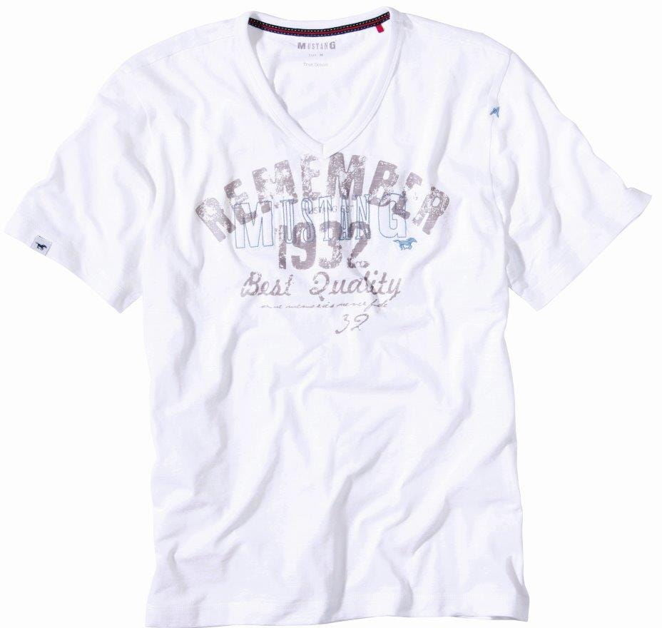 Koszulka krótki rękaw Mustang 5534 2100 biała