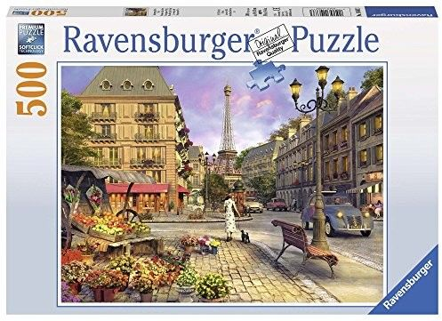 Puzzle Ravensburger 500 - Wieczorny spacer po Paryżu, An Evening Walk