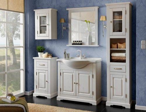 Meble łazienkowe ROMANTIC-szafki, lustro, umywalka 85 cm