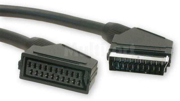 Kabel 1,5m wtyk Scart - gniazdo Scart 21pin