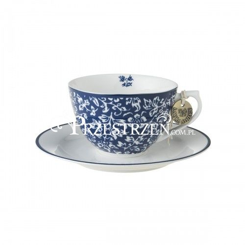 PORCELANOWA FILIŻANKA CAPPUCCINO Laura Ashley BLUEPRINTS Sweet Allysum