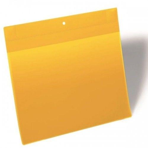 Kieszeń magazynowa magnetyczna Plus A4 pozioma DURABLE żółta 10szt. 1748 04