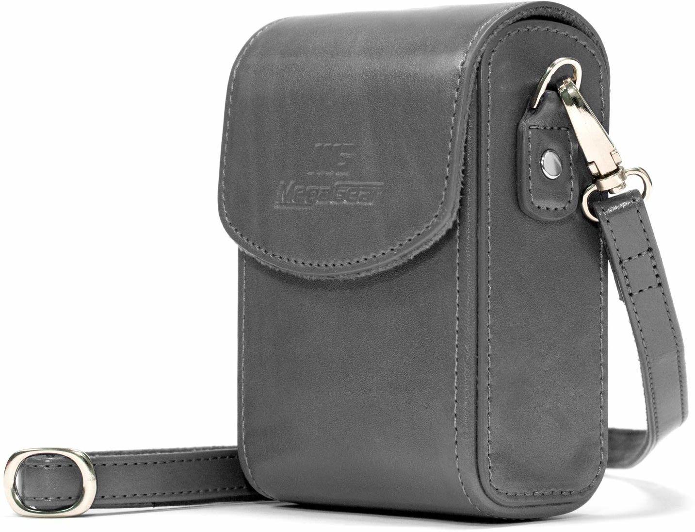 MegaGear MG1217 Nikon Coolpix A1000, A900 skórzana torba na aparat z paskiem do noszenia - szara