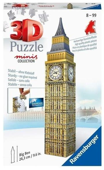 Puzzle 3D 54 Mini budynki: Big Ben - Ravensburger