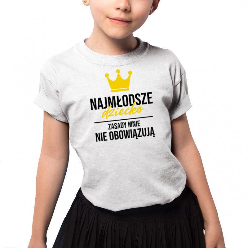 Najmłodsze dziecko - koszulka dziecięca z nadrukiem