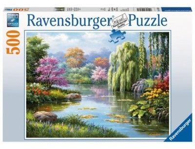 Puzzle Ravensburger 500 - Romantyczny staw, Romantic Pond View