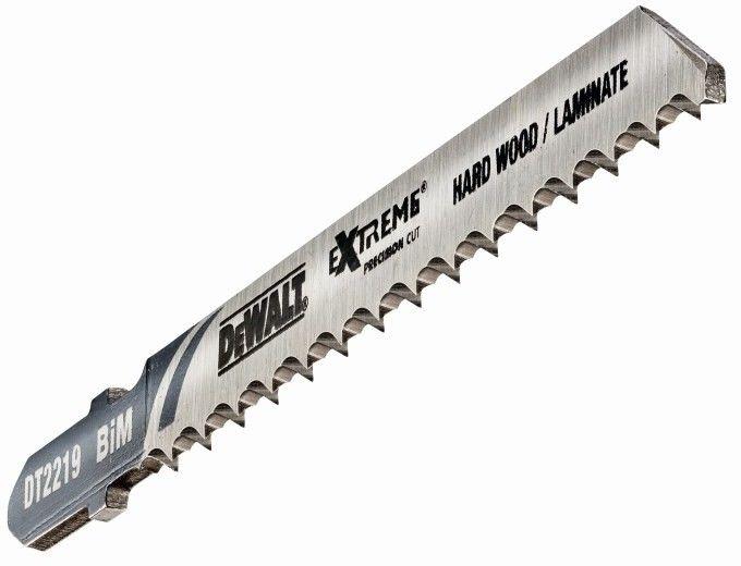 brzeszczoty z odwrotnymi zębami do wyrzynarek 100mm do cięcia drewna, laminatów 3 szt. DeWalt [DT2219]