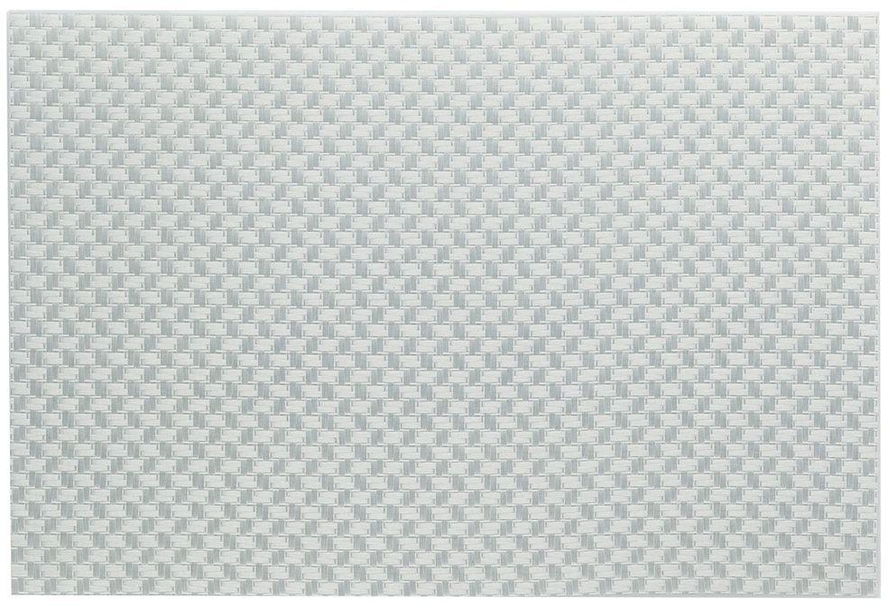 Kela podkładki pod talerze Plato 45 x 30 cm z PCW tworzywo sztuczne/poliester w kolorze białym, 1 x 30 x 1 cm
