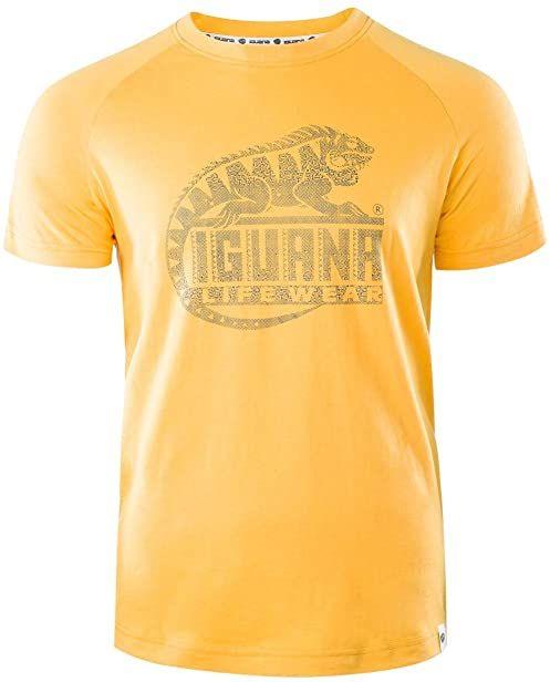 Iguana męski T-shirt Lanre żółty Beeswax/Logo Triangle Print XX-L