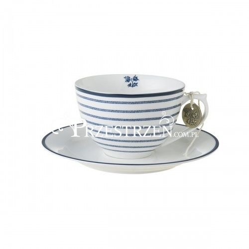PORCELANOWA FILIŻANKA CAPPUCCINO Laura Ashley BLUEPRINTS Candy Stripe