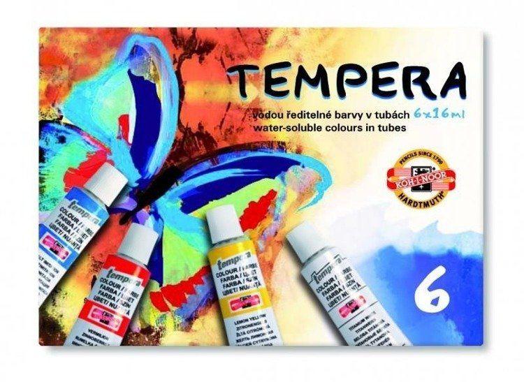 Farby Tempera 6 kolorów