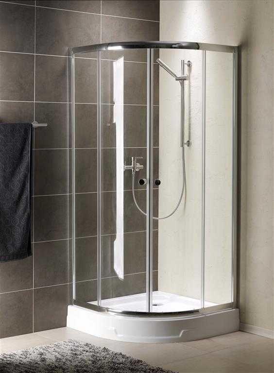 Kabina prysznicowa półokrągła Radaway Premium A 90 szkło Grafitowe wys. 190 cm. 30403-01-05