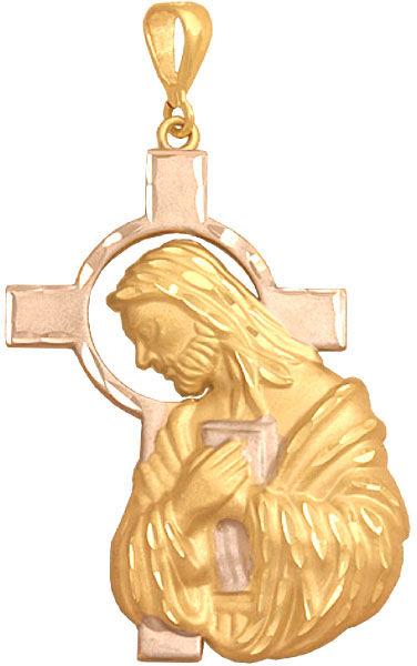 Złoty medalik 585 z Jezusem i krzyżem 3.7g prezent