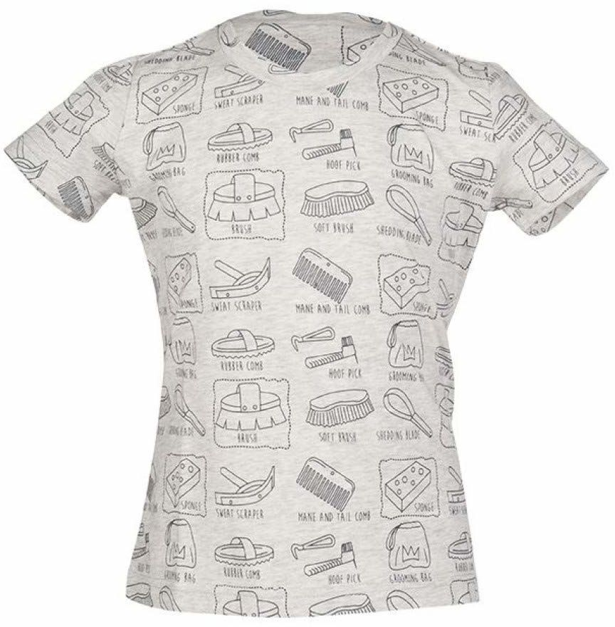 HKM koszulka dla dorosłych Royal-9575 meliert122/128 spodnie, 9575 szary melanż, 122/128