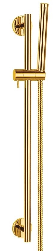 Omnires Microphone zestaw prysznicowy suwany złoty MICROPHONE-SGL