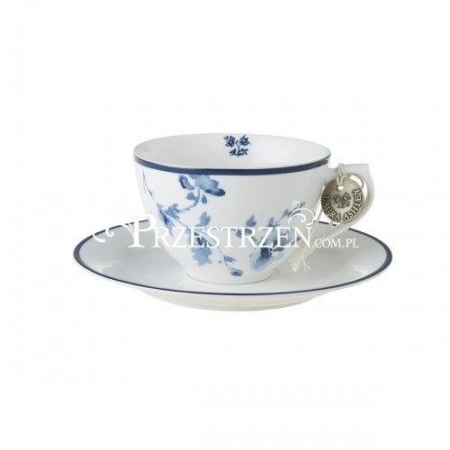 PORCELANOWA FILIŻANKA CAPPUCCINO Laura Ashley BLUEPRINTS China Rose