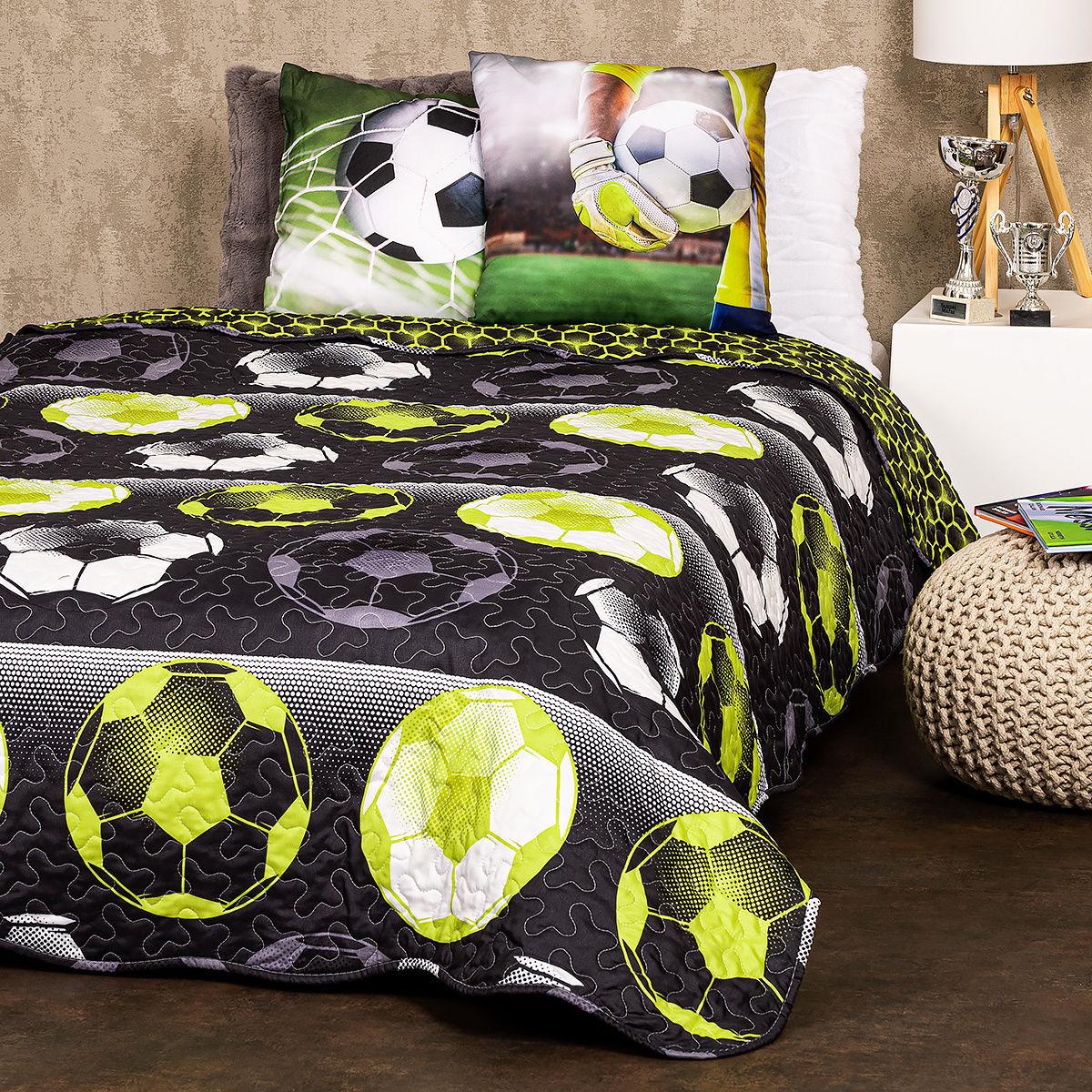 4Home Narzuta na łóżko Football, 140 x 220 cm