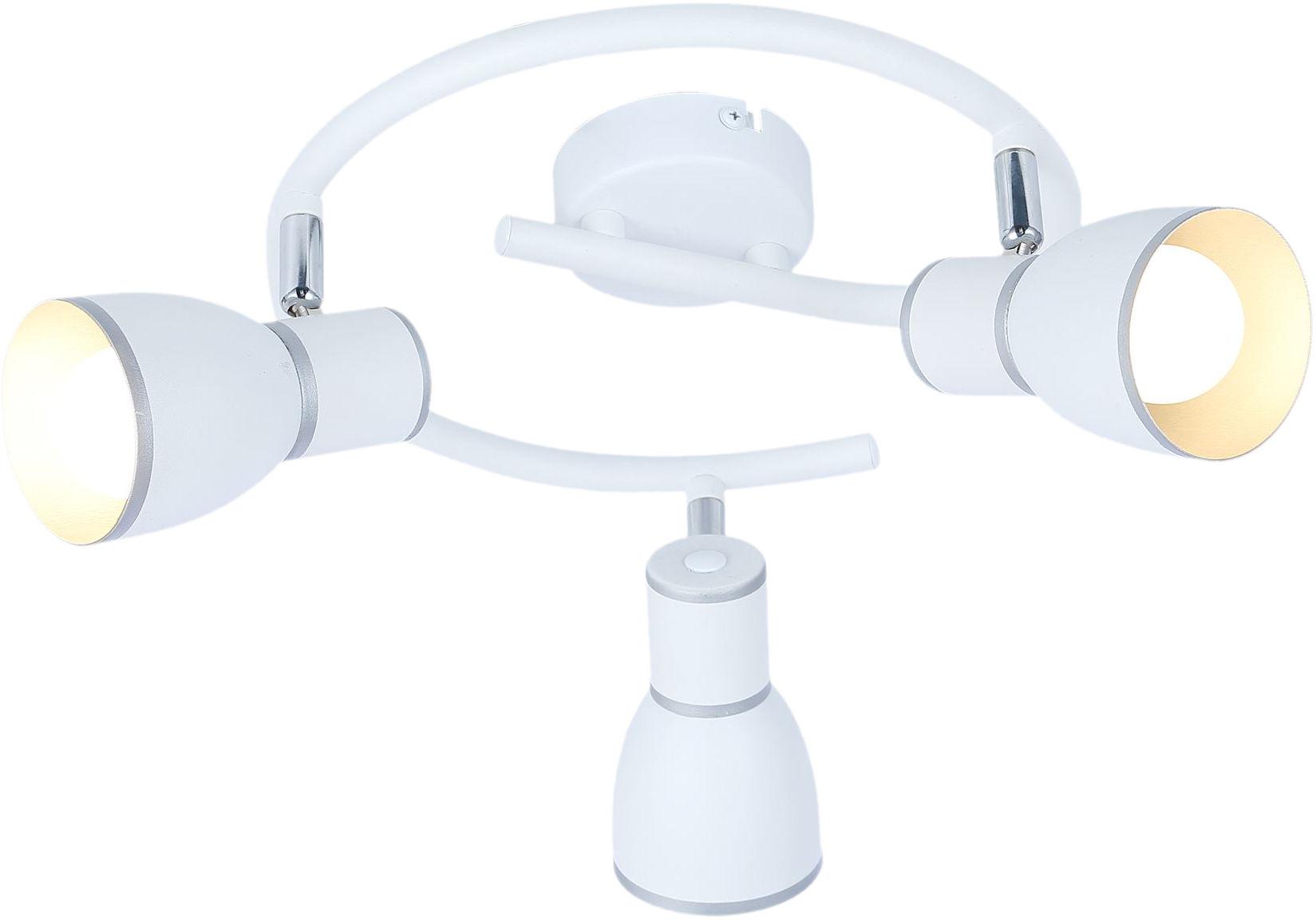 Candellux FIDO 98-63380 plafon lampa sufitowa spirala metalowy klosz biała+chrom 3X40W E14 43cm