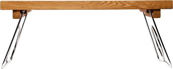 Sagaform OVAL OAK Stolik Śniadaniowy - Taca ze Składanymi Nóżkami