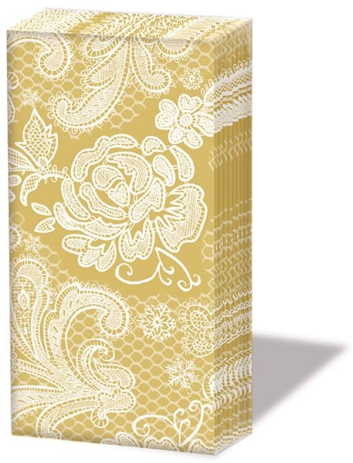 CHUSTECZKI DO NOSA - Lace Gold - Złota Koronka