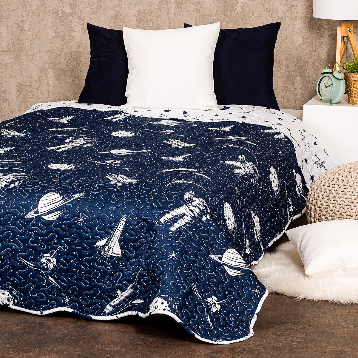 4Home Narzuta na łóżko In Space, 140 x 220 cm