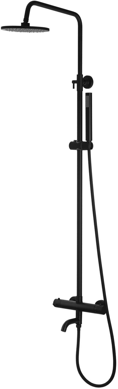 Corsan kolumna prysznicowa termostatyczna regulowana Lugo czarna CMN017