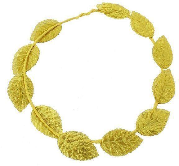 Złoty grecki wieniec laurowy opaska 1 sztuka WIEL-YH