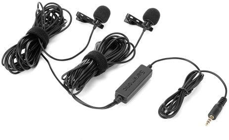 Saramonic LavMicro 2M - mikrofon krawatowy, lavalier podwójny, złącze Jack TRRS Saramonic LavMicro 2M