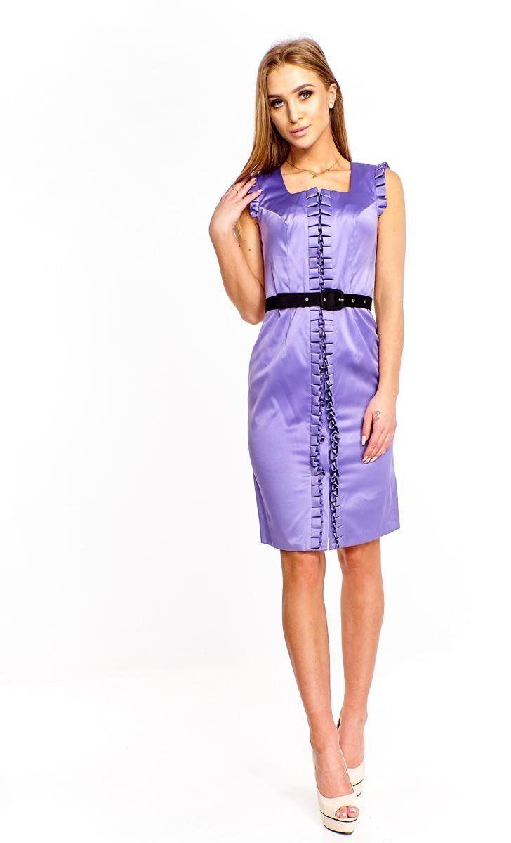 Sukienka FSU227 FIOLETOWY