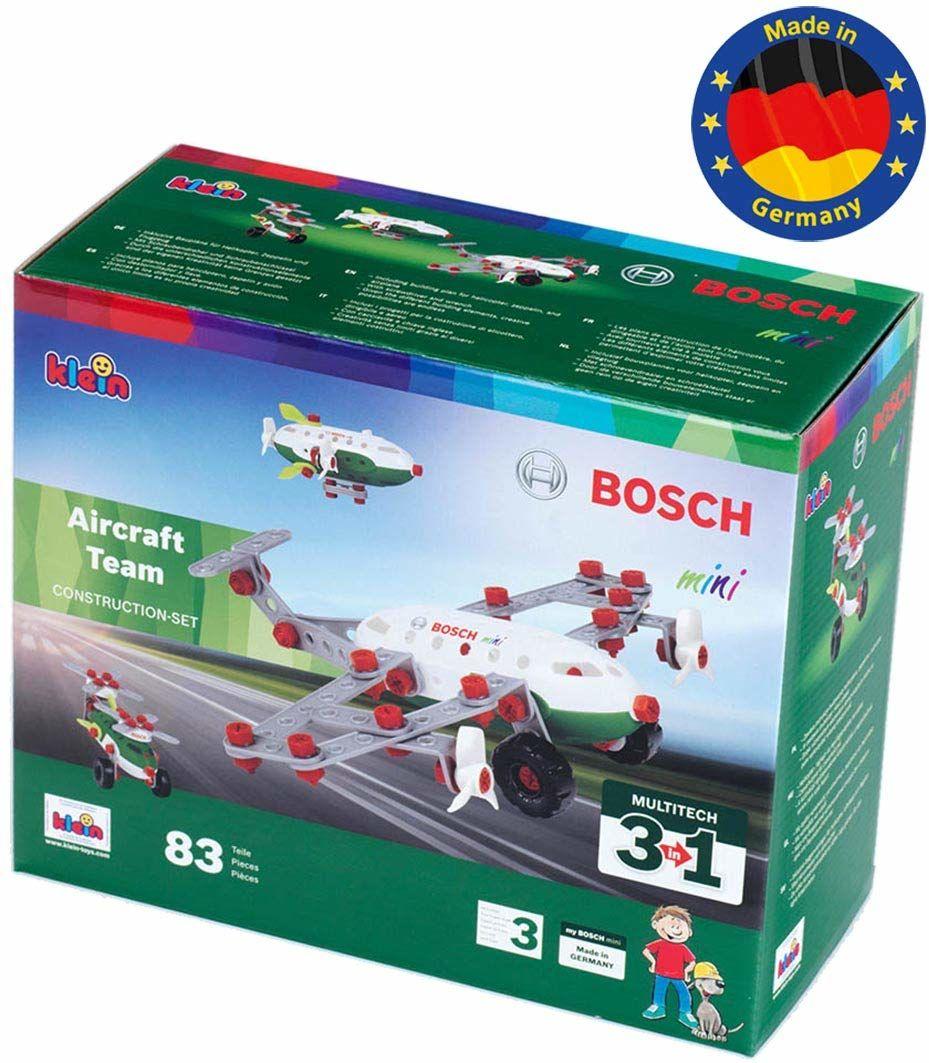 Theo Klein 8790 Bosch zestaw konstrukcyjny 3 w 1 Aircraft Team, Multicolor