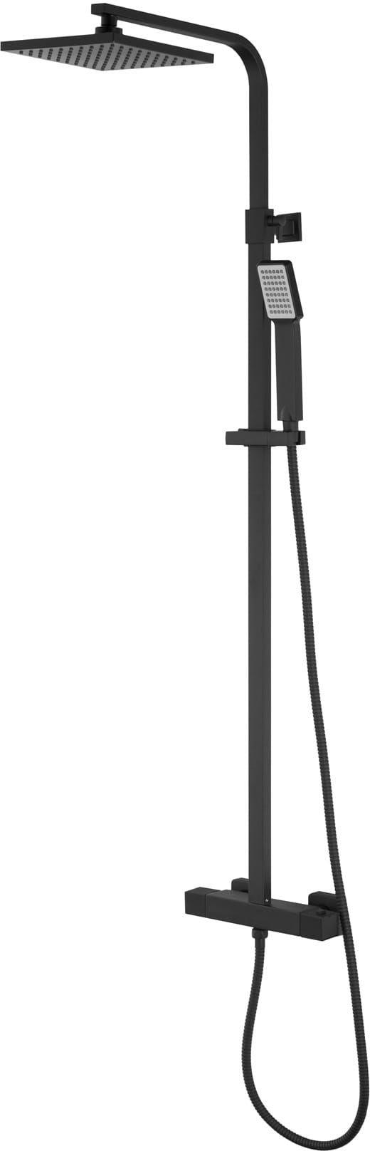 Corsan kolumna prysznicowa termostatyczna regulowana Ango czarna CMN019