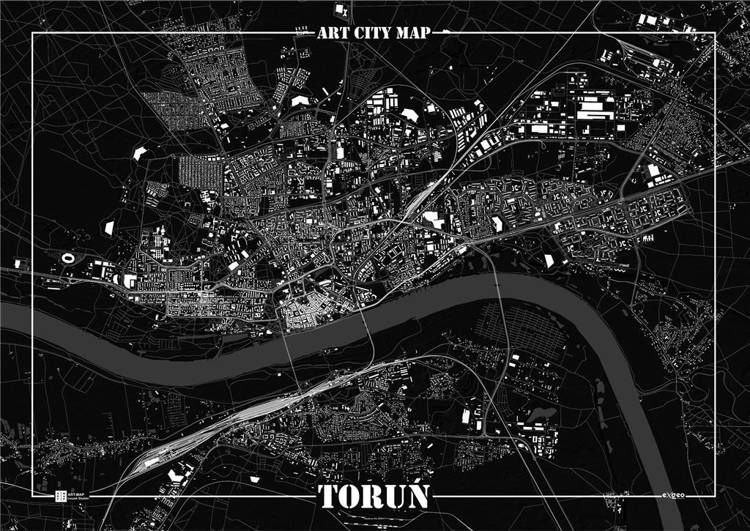 Plakat dekoracyjny - Toruń