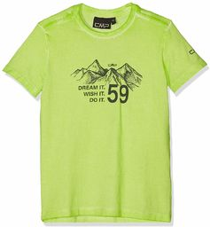 CMP T-shirt chłopięcy 38t6874 beżowy bambus 110