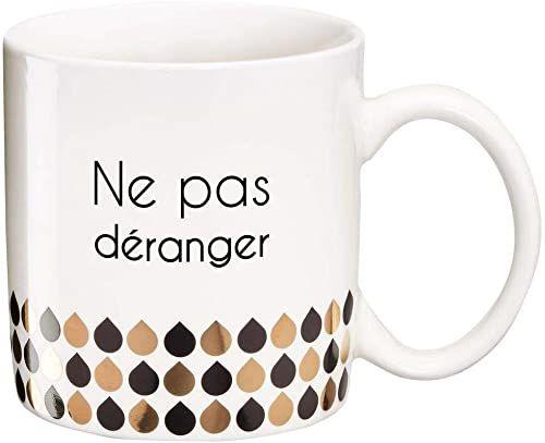 DRAEGER PARIS 1886 Ne pas déranger filiżanka, proszę nie przeszkadzać, 11,6 x 9,5 x 8,2 cm