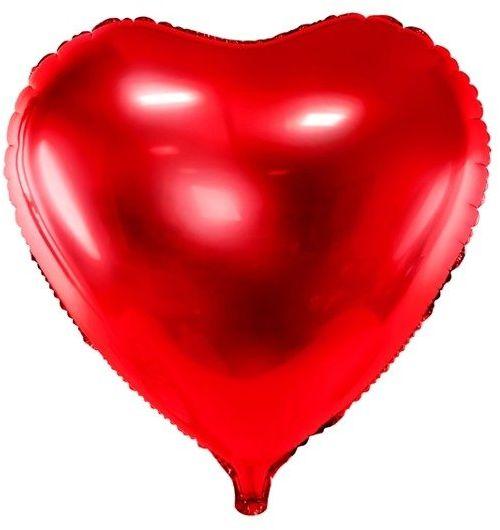 Balon foliowy serce czerwone 45cm 1 sztuka FB9M-007