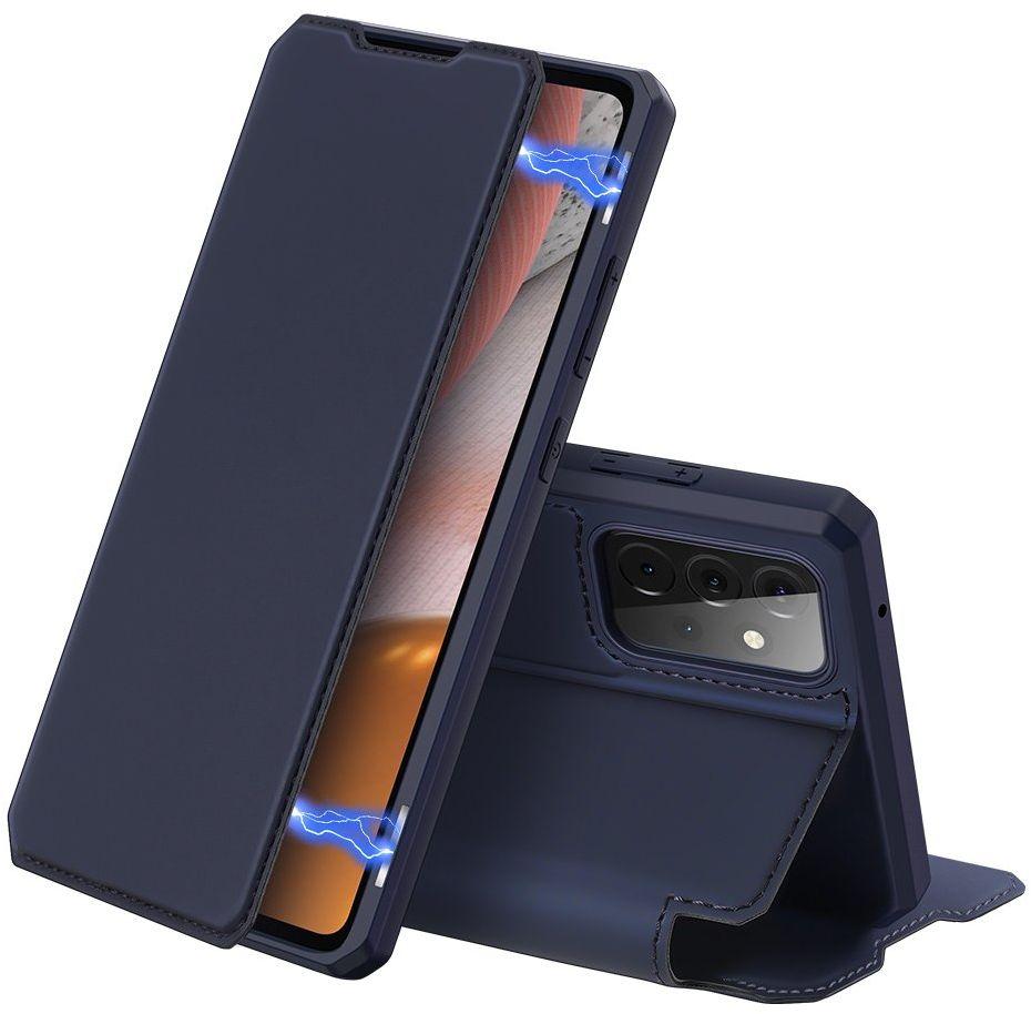 DUX DUCIS Skin X kabura etui pokrowiec z klapką Samsung Galaxy A72 4G niebieski