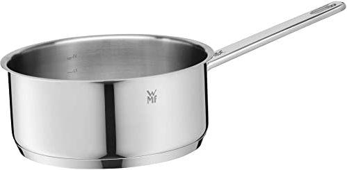 WMF Compact Cuisine rondel 20 cm, bez pokrywki, garnek do gotowania 2,5 l, garnek na mleko, stal nierdzewna Cromargan, garnek indukcyjny, skala wewnętrzna
