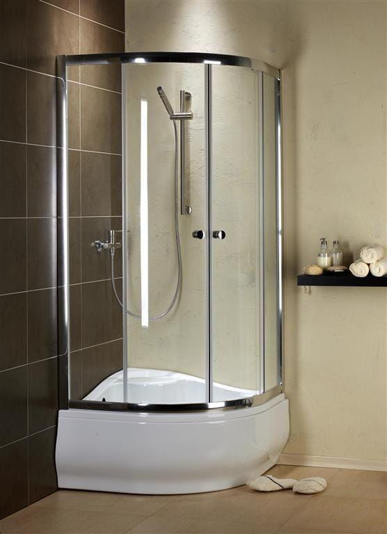 Kabina prysznicowa półokrągła Radaway Premium A 80 szkło Satinato wys. 170 cm. 30411-01-02
