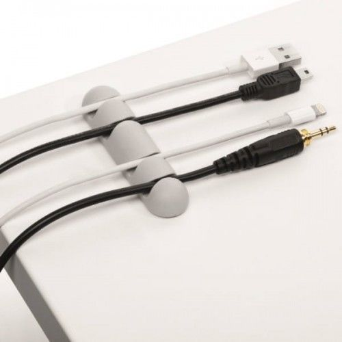 Klips samoprzylepny na 4 kabele Durable CAVOLINE Clip4 szary 2szt. /504010/