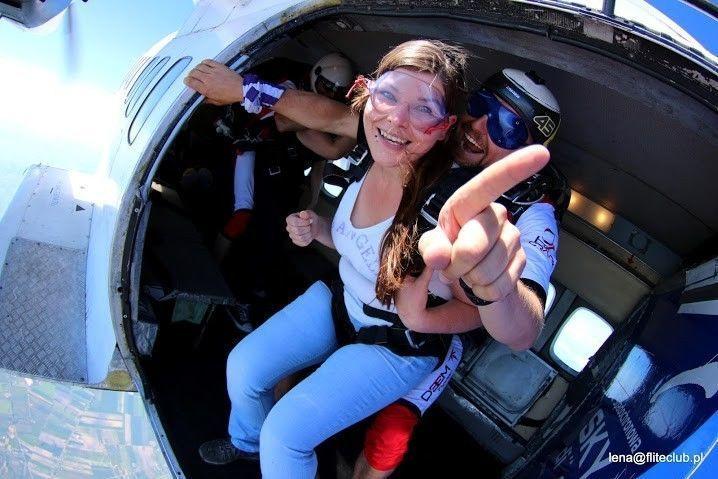 Skok ze spadochronem z wideorejestracją - Włocławek I