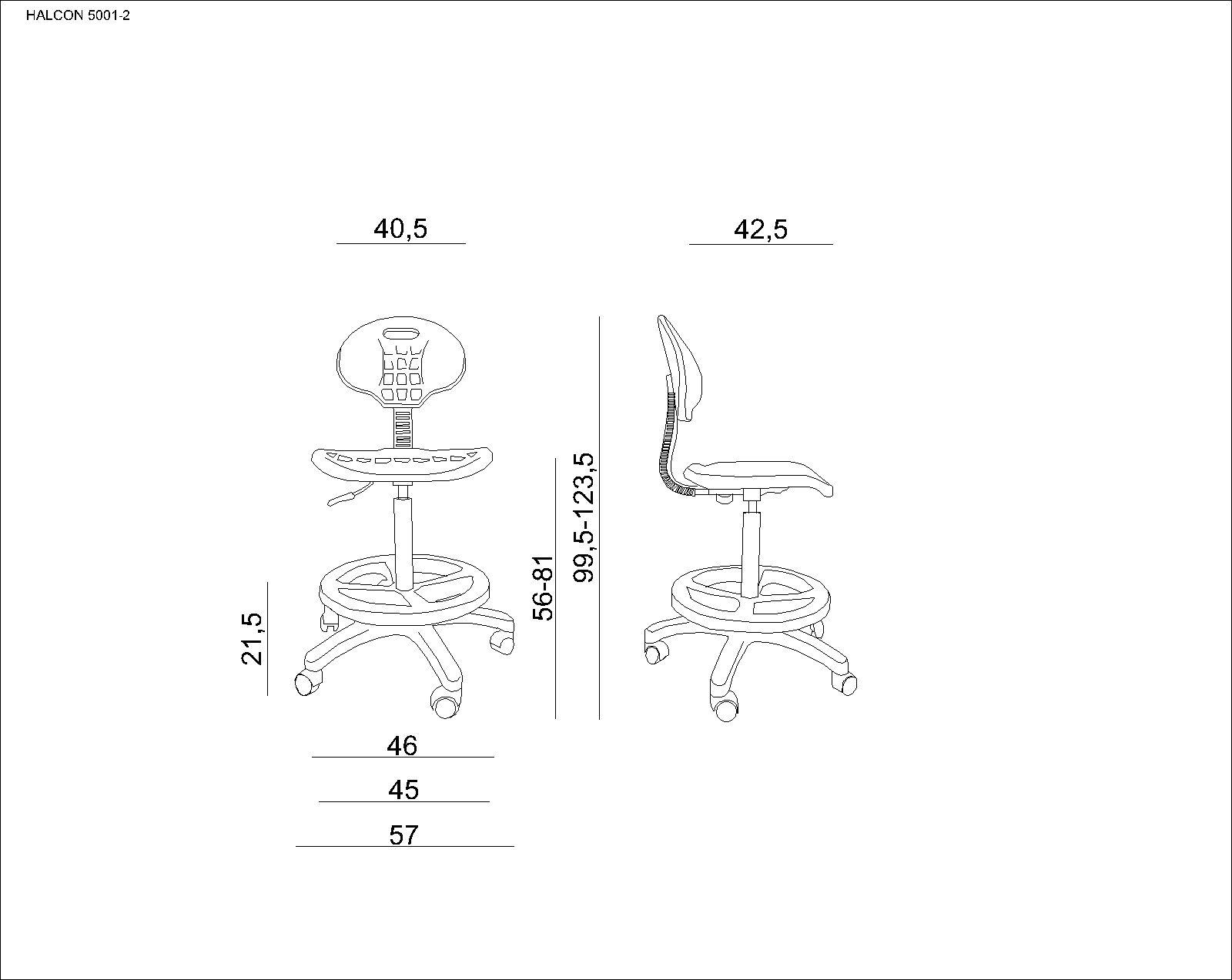 UNIQUE Krzesło obrotowe HALCON